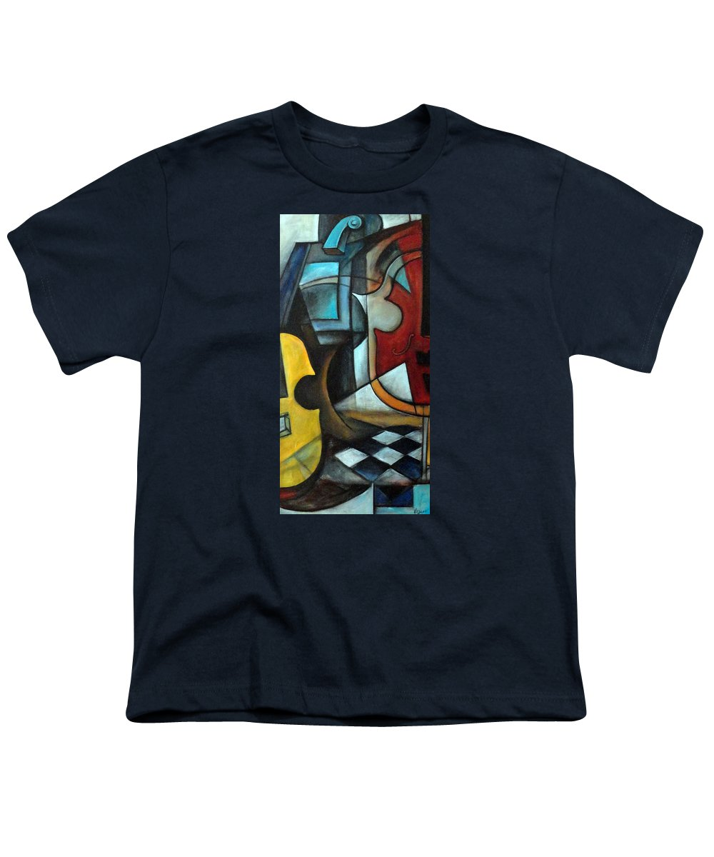 Abstract Youth T-Shirt featuring the painting La Musique 1 by Valerie Vescovi