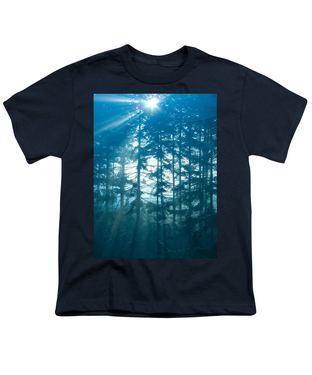 Nature Youth T-Shirt featuring the photograph Mystic Light by Daniel Csoka