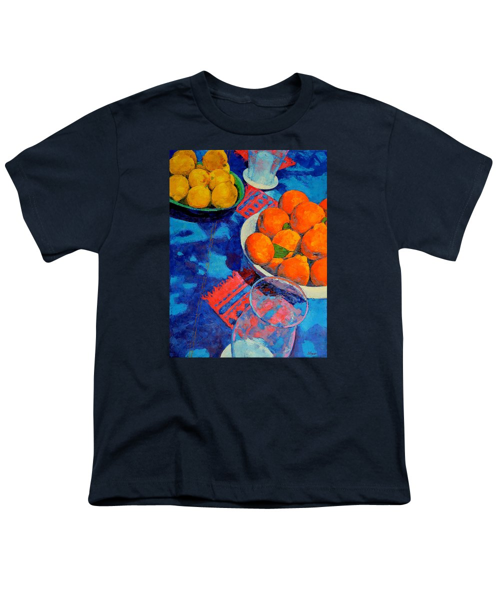 Still Life Youth T-Shirt featuring the painting Still Life 2 by Iliyan Bozhanov