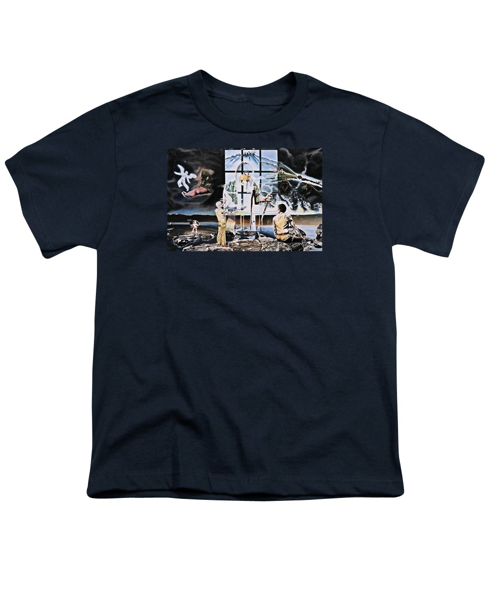 Surreal Youth T-Shirt featuring the painting Surreal Windows Of Allegory by Dave Martsolf