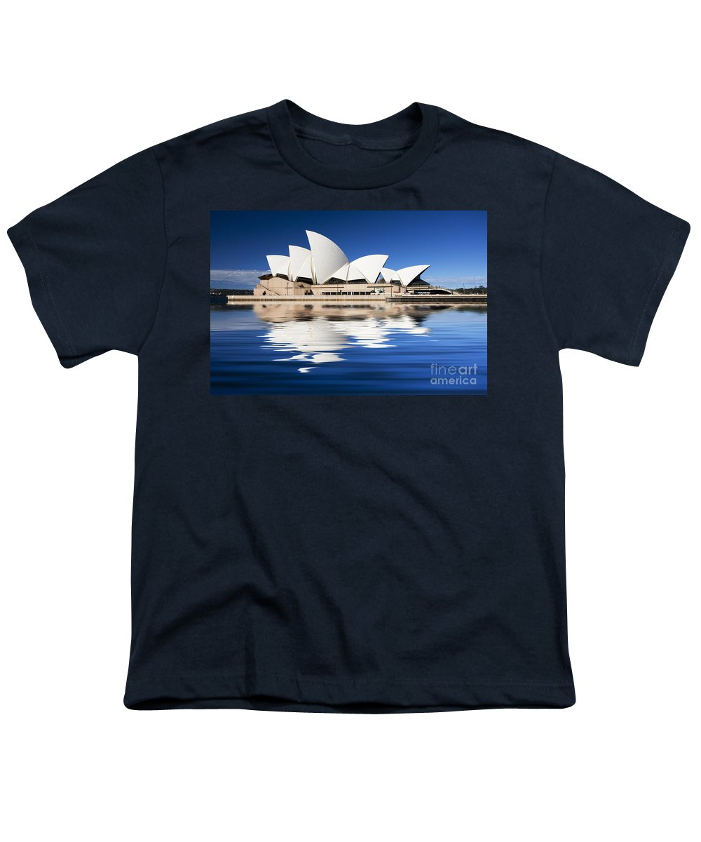 Sydney Opera House Youth T-Shirt featuring the photograph Sydney Icon by Avalon Fine Art Photography