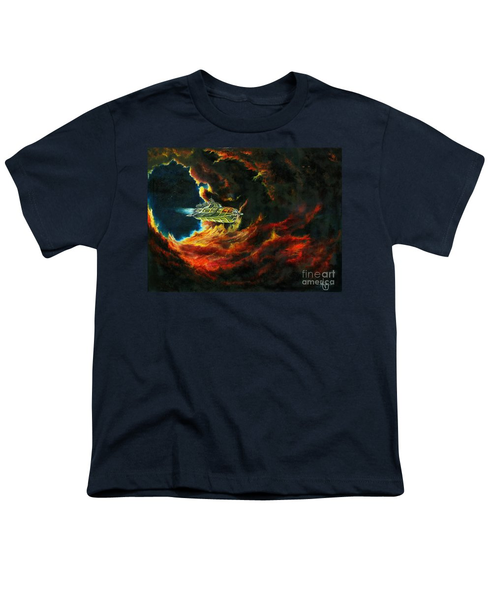 Devil Youth T-Shirt featuring the painting The Devil's Lair by Murphy Elliott