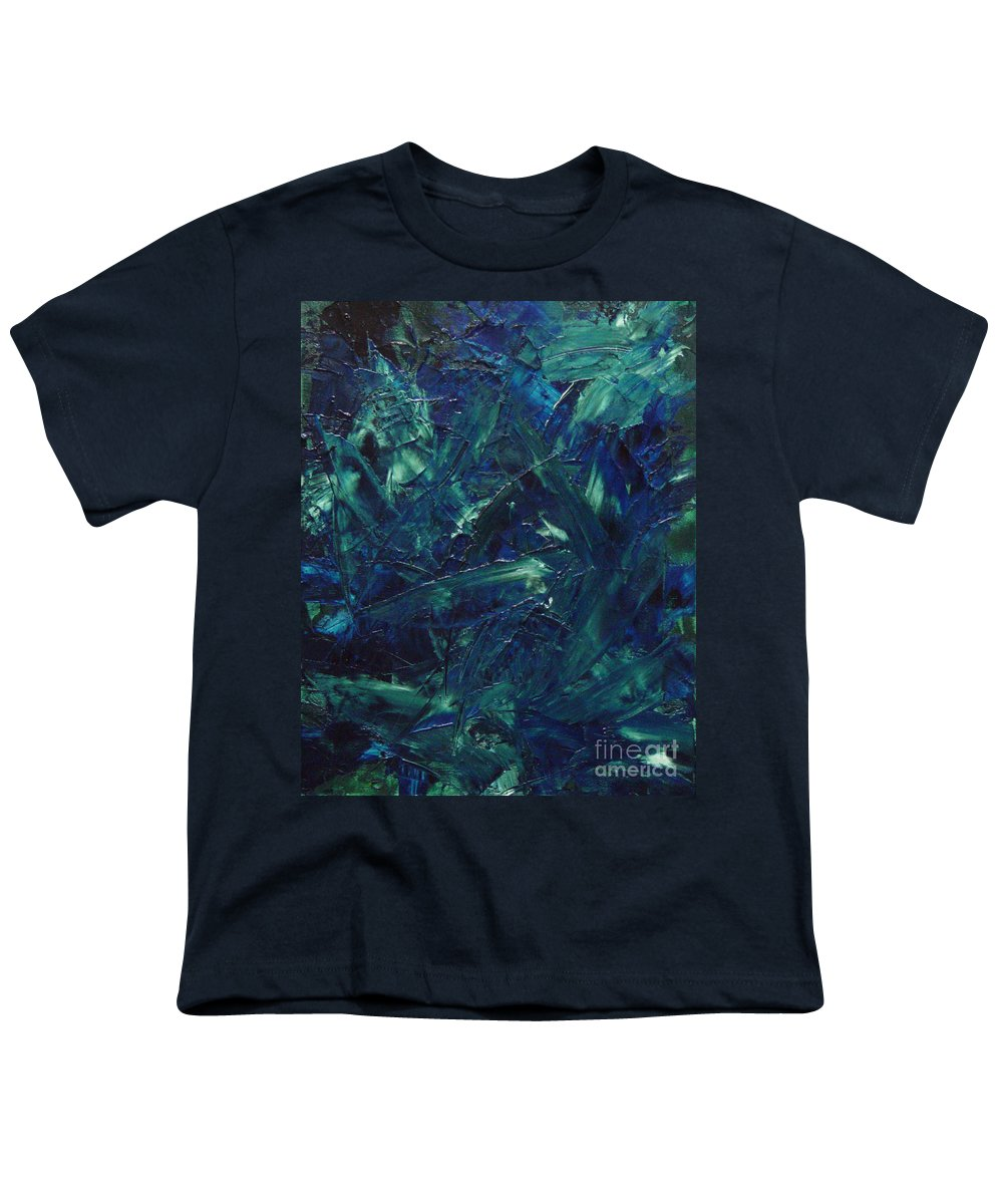 Abstract Youth T-Shirt featuring the painting Transtions Xi by Dean Triolo