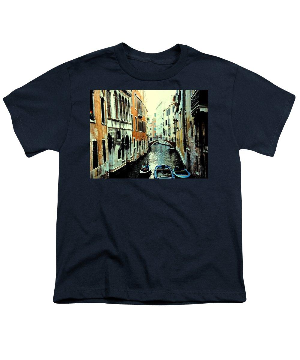 Venice Youth T-Shirt featuring the photograph Venice Street Scene by Ian MacDonald