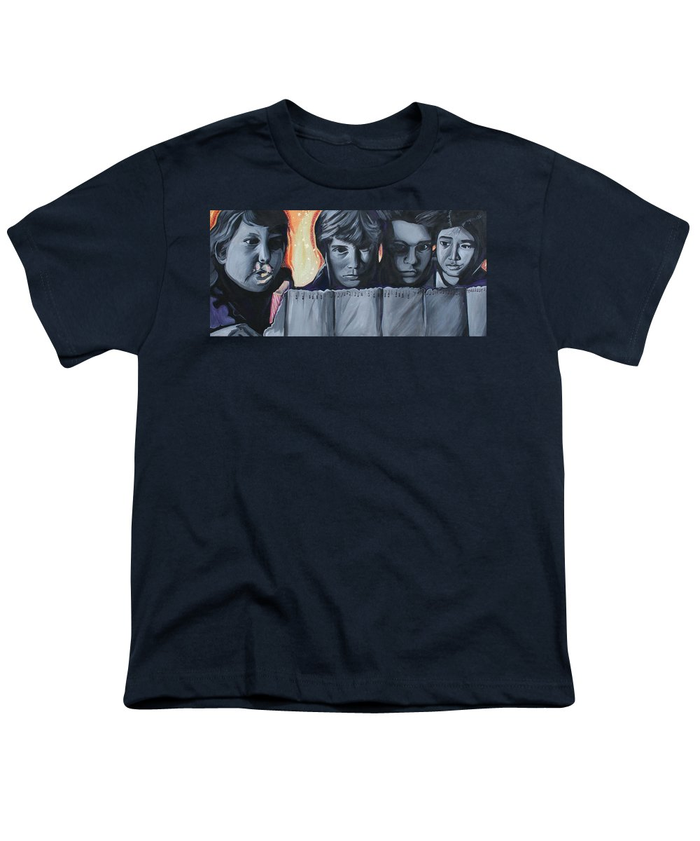 Youth T-Shirt featuring the painting The Goonies by Kate Fortin