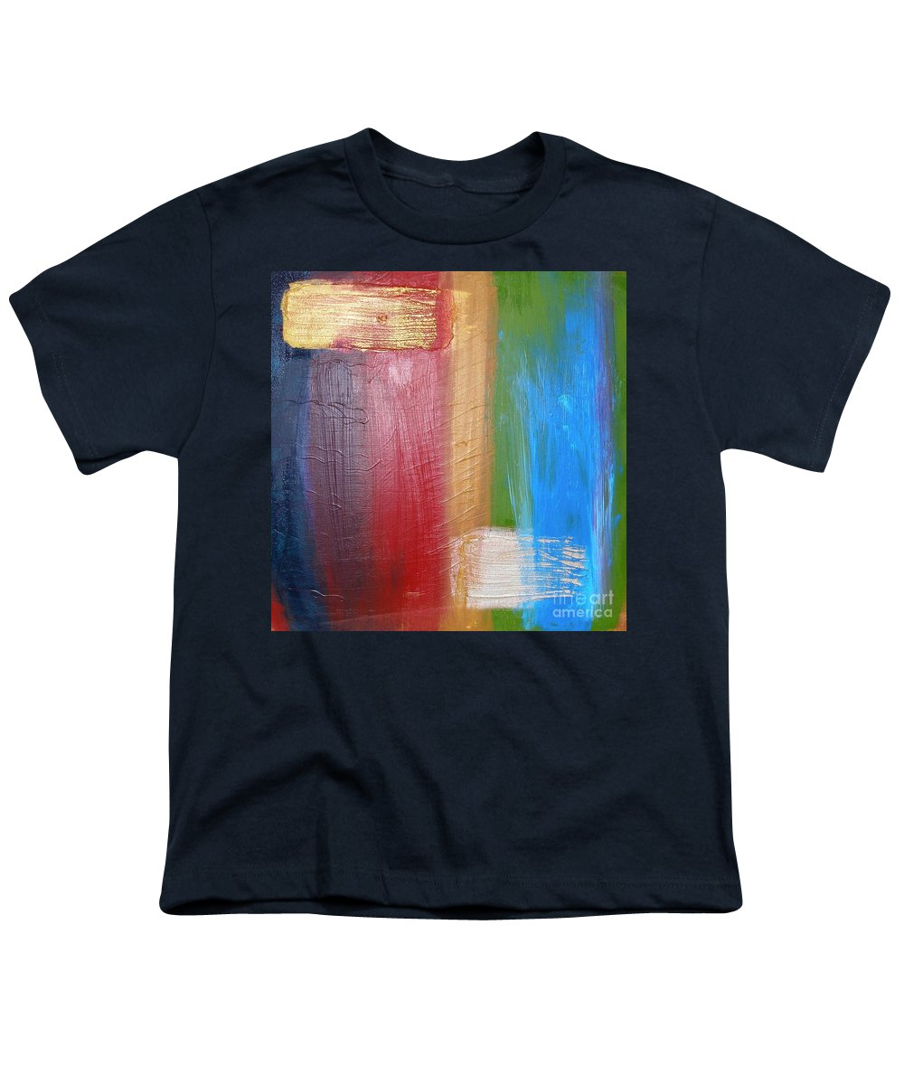 Rainbow Youth T-Shirt featuring the painting Radiance by Maria Bonnier-Perez