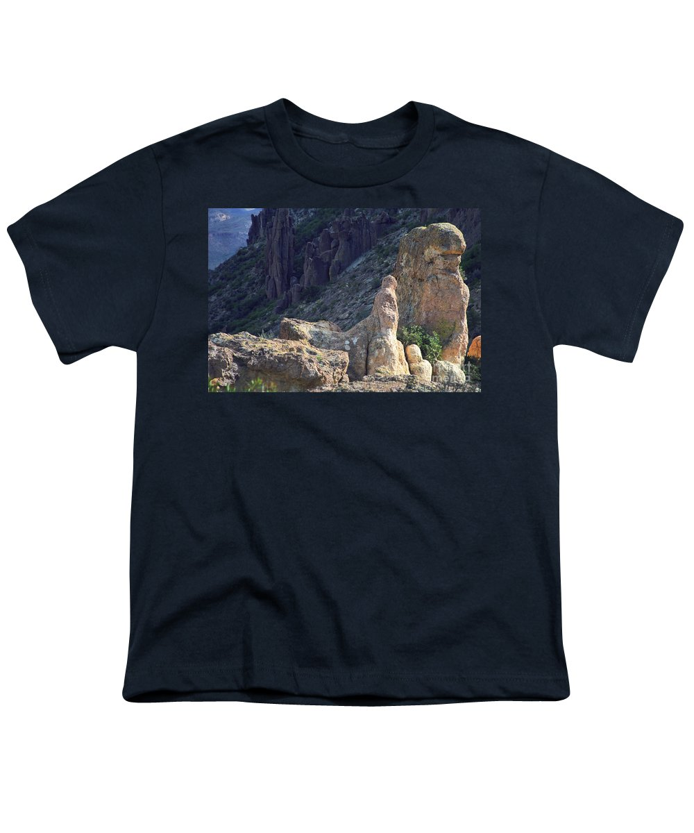 Rock Formations Youth T-Shirt featuring the photograph A Hard Ride by Kathy McClure