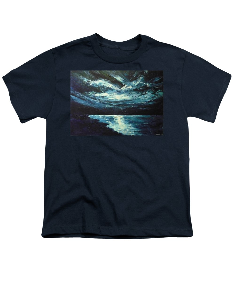 Landscape Youth T-Shirt featuring the painting A Milky Way by Ericka Herazo
