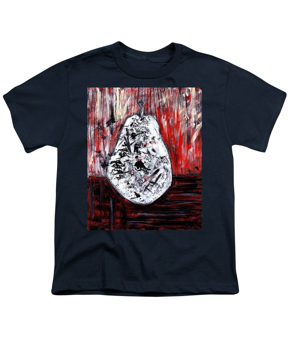 Pear Youth T-Shirt featuring the painting A Pear-antly by Wayne Potrafka