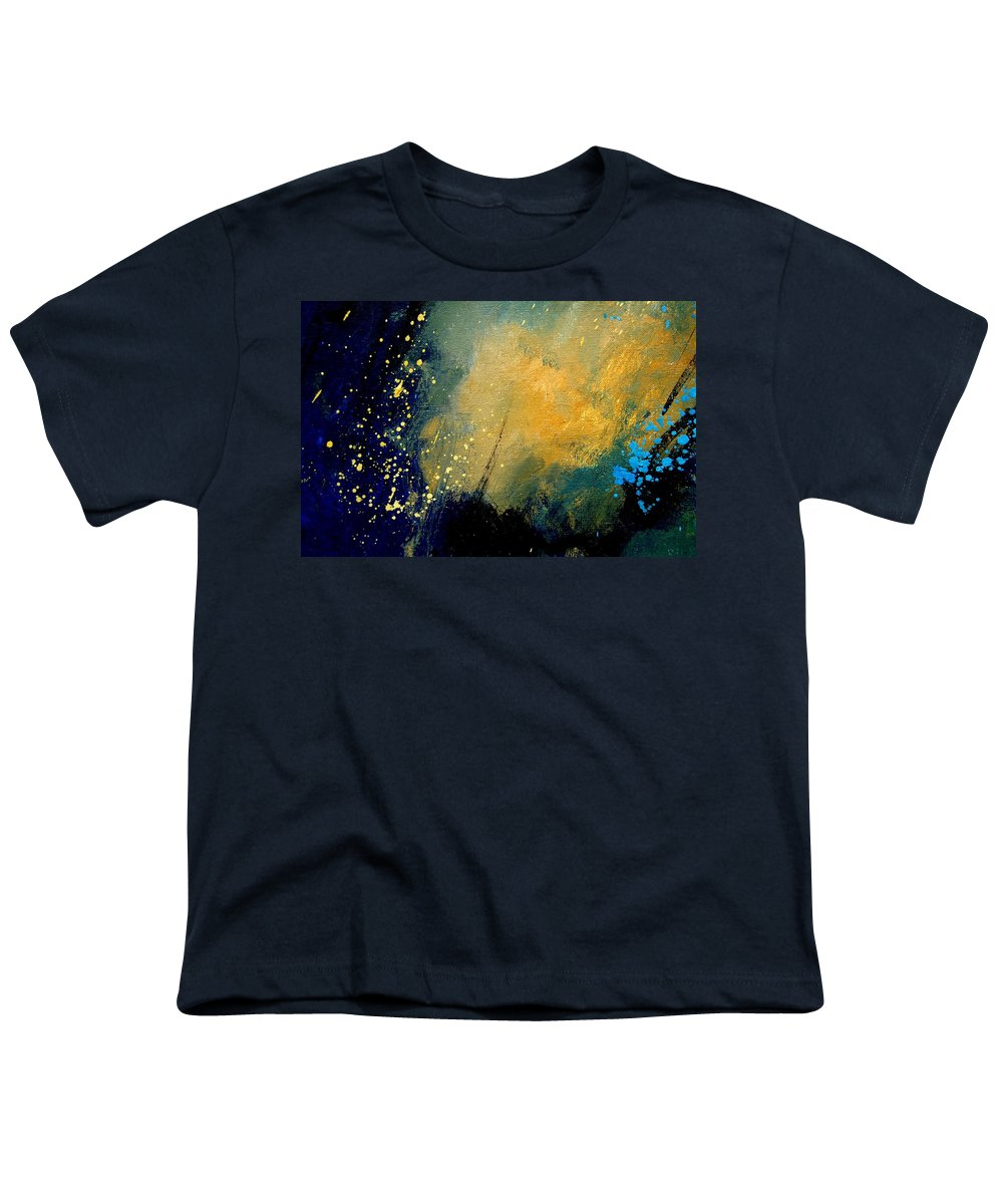 Abstract Youth T-Shirt featuring the painting Abstract 061 by Pol Ledent
