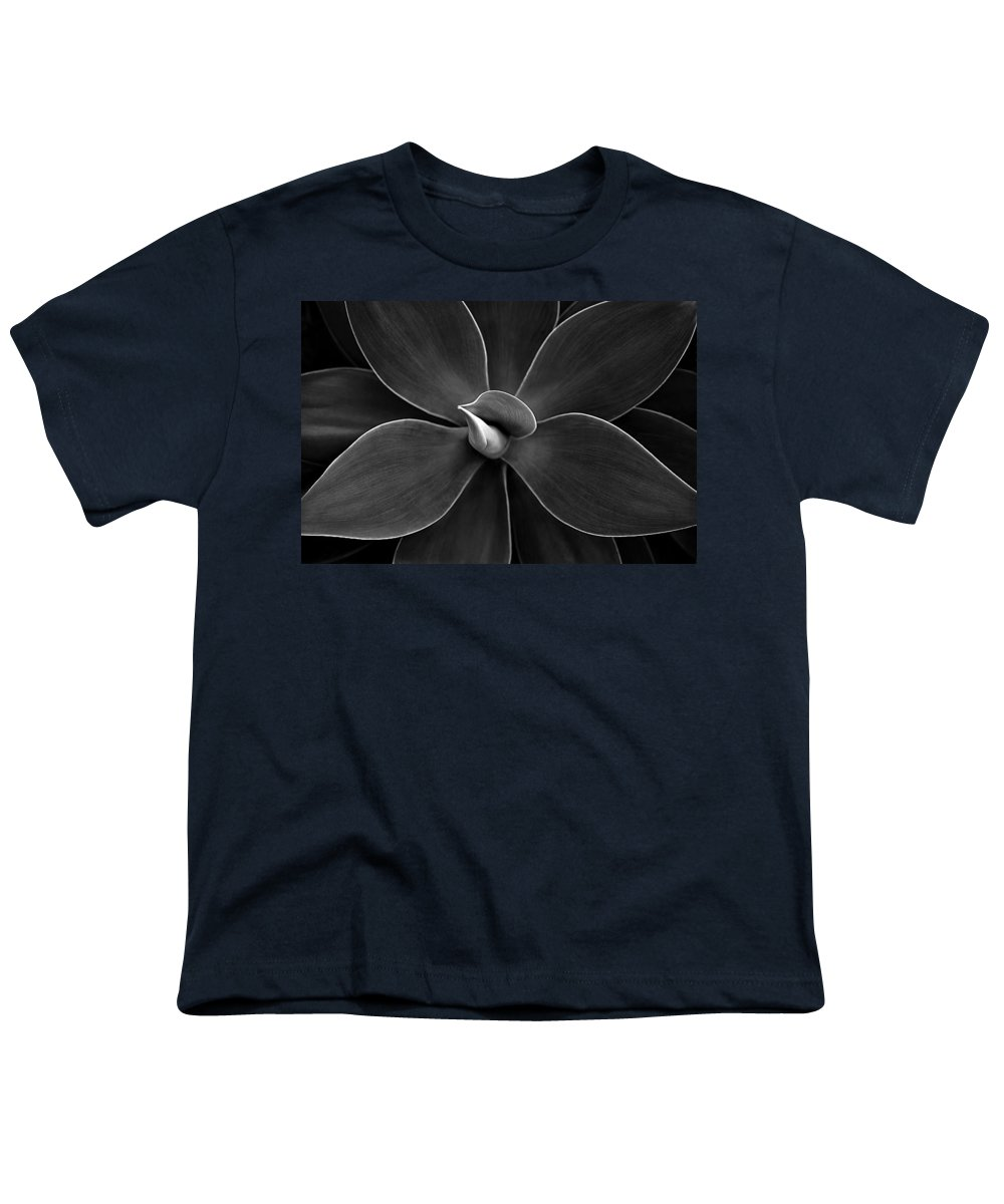 Agave Youth T-Shirt featuring the photograph Agave Leaves Detail by Marilyn Hunt