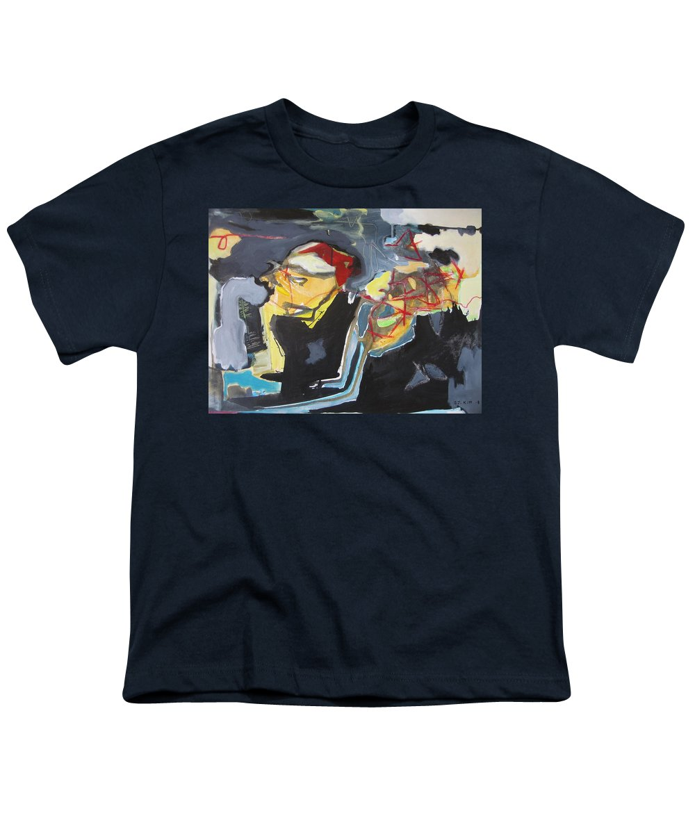 Abstract Paintings Youth T-Shirt featuring the painting Alexander Trail by Seon-Jeong Kim