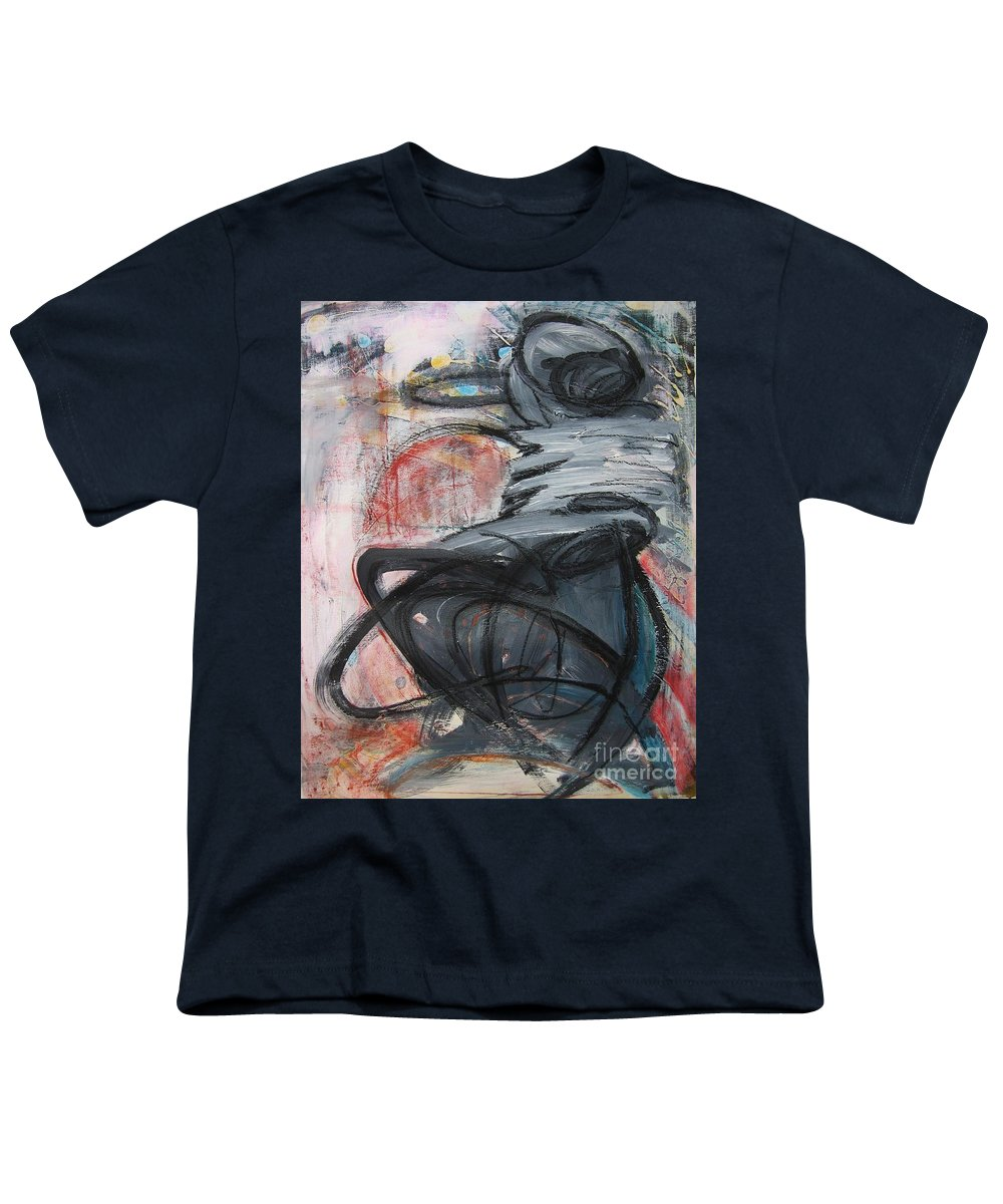 Abstract Paintings Paintings Youth T-Shirt featuring the painting All Alone by Seon-Jeong Kim