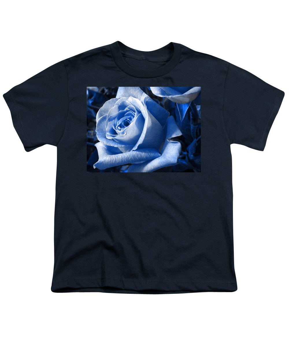 Blue Youth T-Shirt featuring the photograph Blue Rose by Shelley Jones