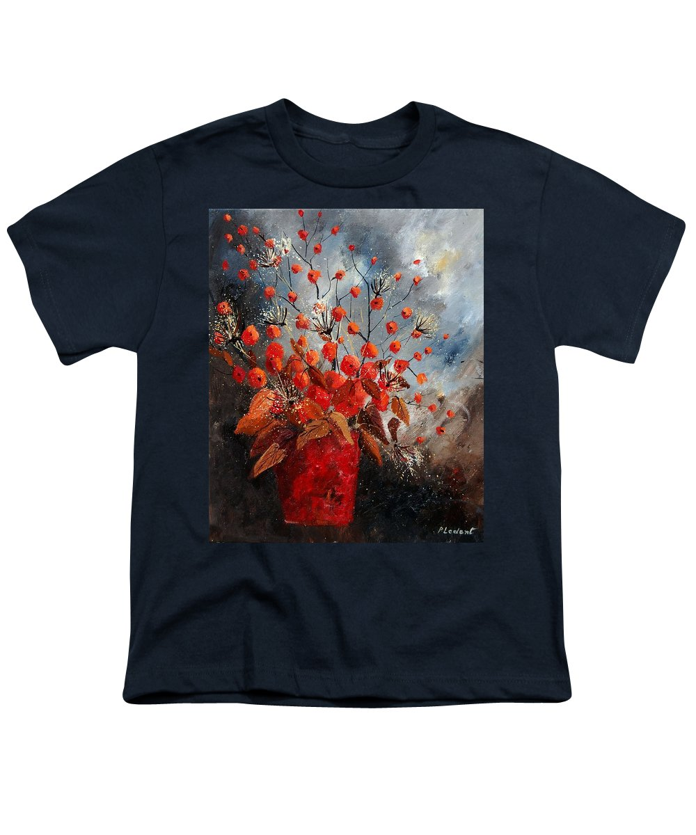 Flowers Youth T-Shirt featuring the painting Bunch 560608 by Pol Ledent