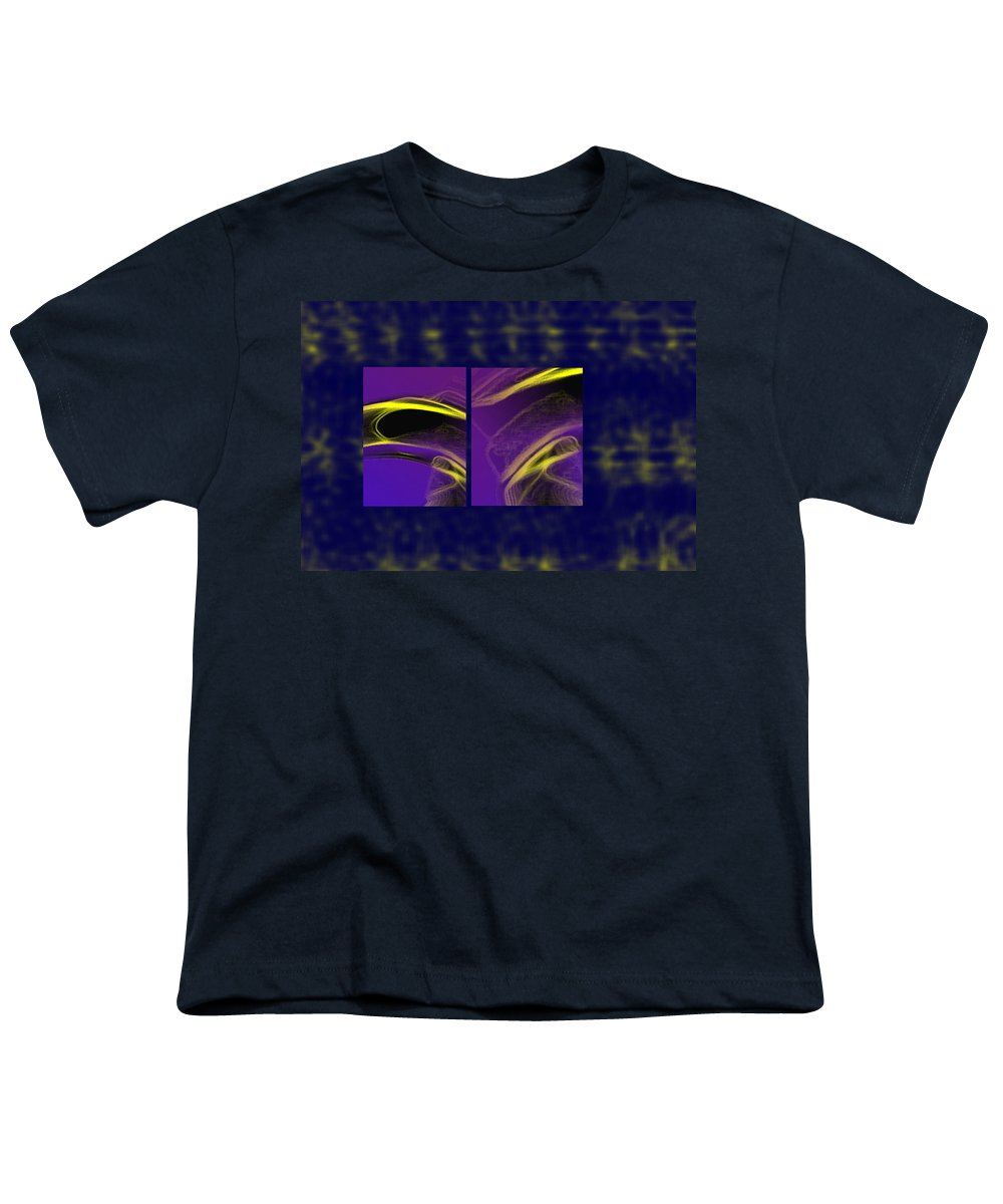 Abstract Youth T-Shirt featuring the digital art Cobra by Steve Karol