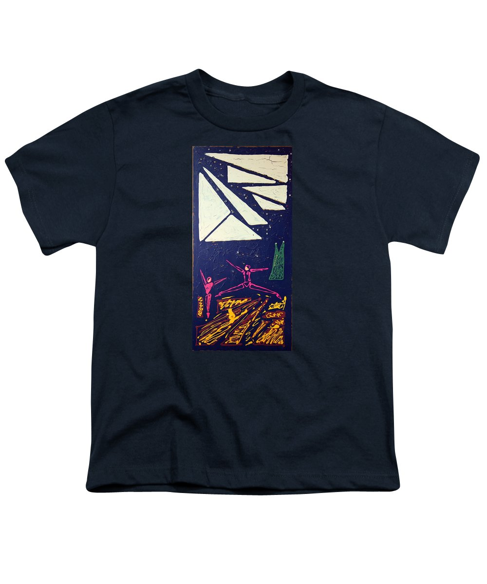 Dancers Youth T-Shirt featuring the mixed media Dancing Under The Starry Skies by J R Seymour