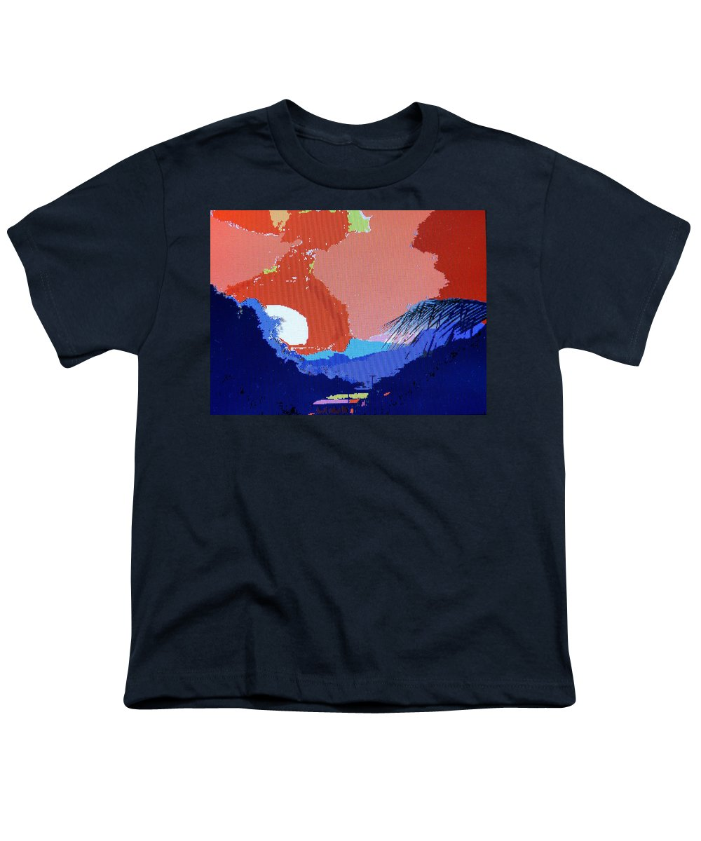 Digital Art Youth T-Shirt featuring the photograph Dominican Sunset by Ian MacDonald