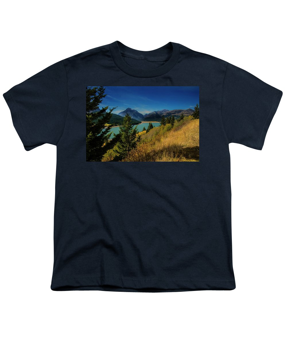Lake Youth T-Shirt featuring the photograph East Glacier Lake by Roy Nierdieck