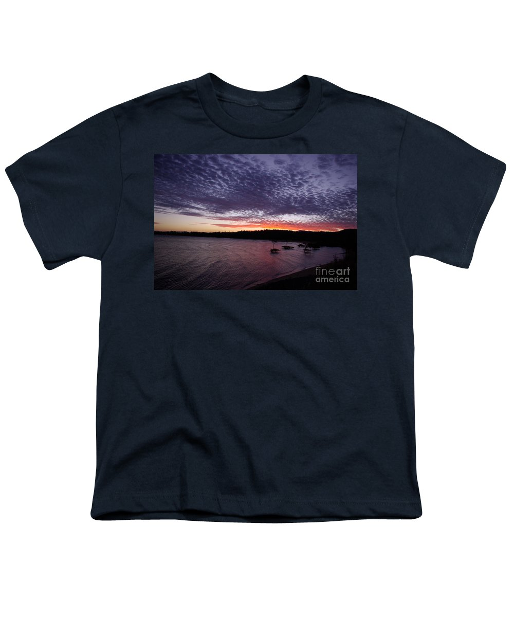 Landscape Youth T-Shirt featuring the photograph Four Elements Sunset Sequence 7 Coconuts Qld by Kerryn Madsen - Pietsch