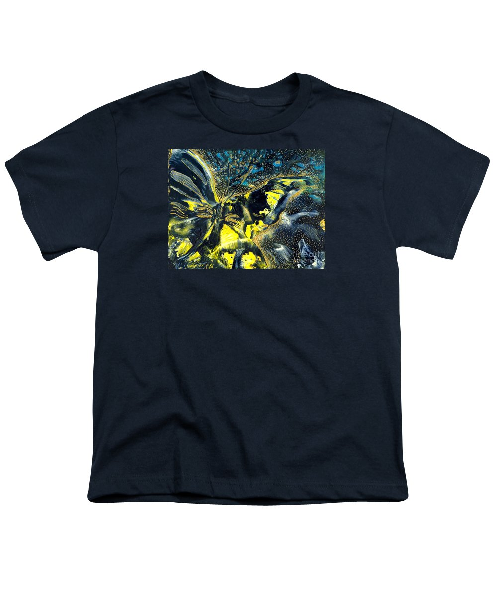 Butterfly Youth T-Shirt featuring the painting Freedom For Margot by Heather Hennick