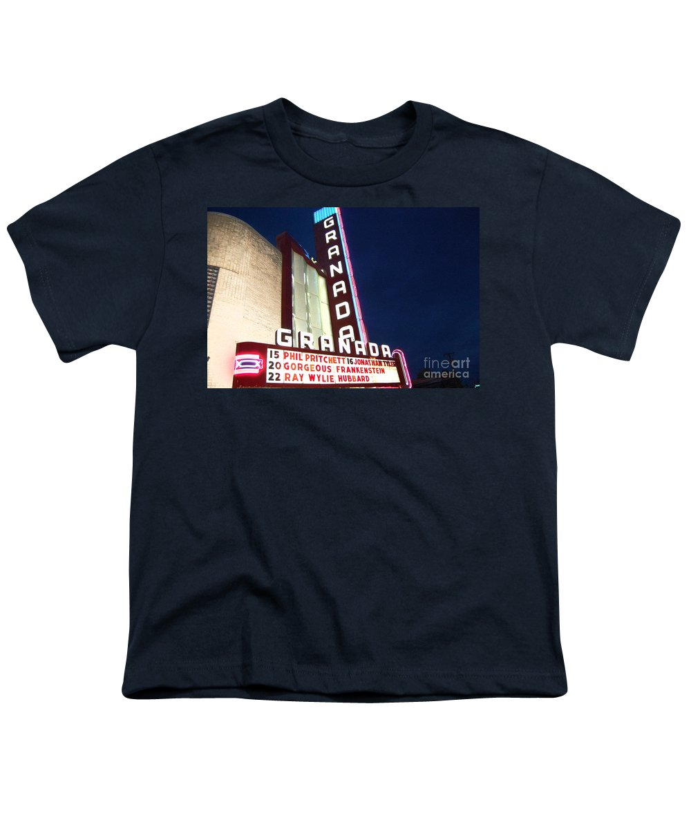 Music Youth T-Shirt featuring the photograph Granada Theater by Debbi Granruth