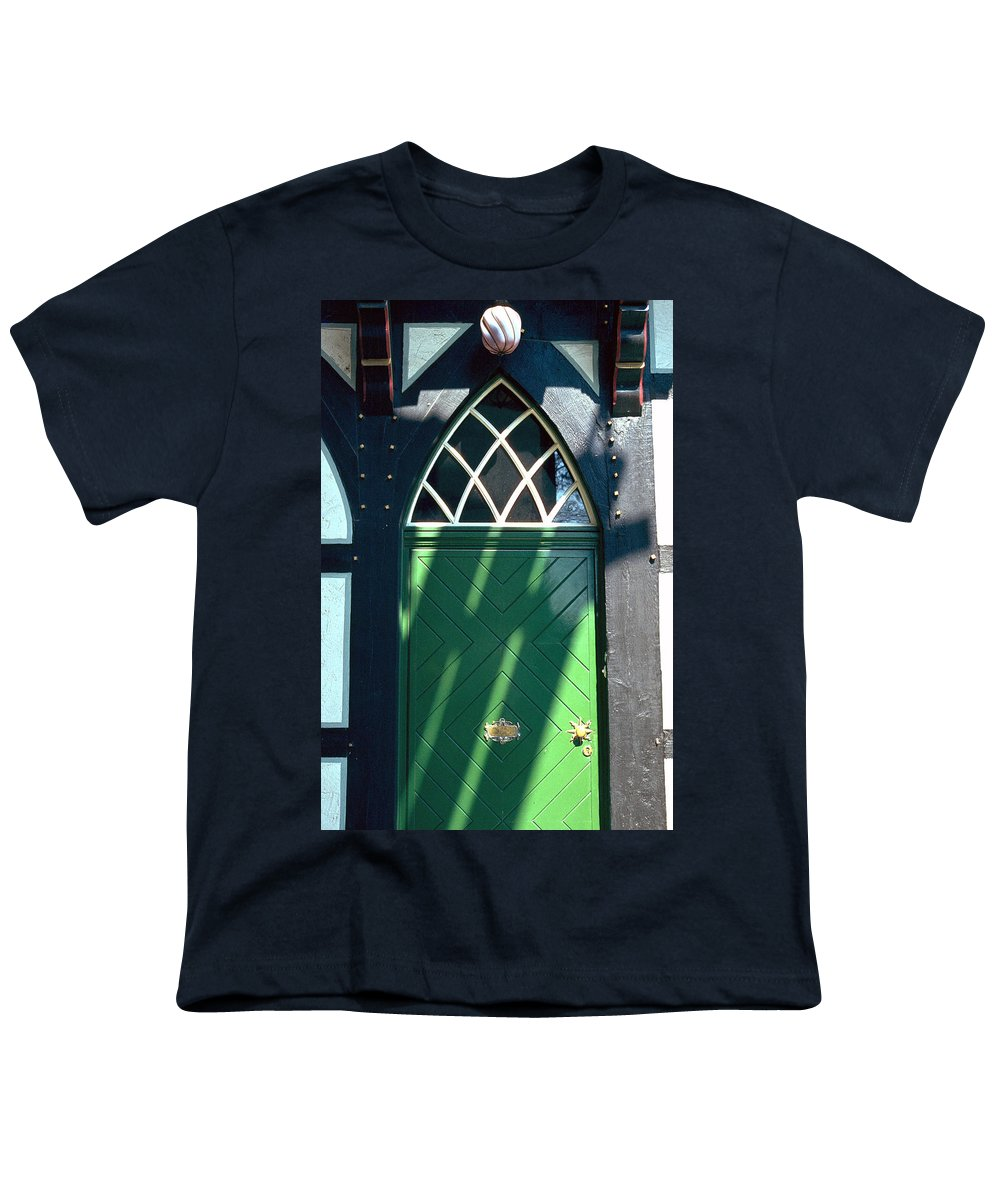 Green Youth T-Shirt featuring the photograph Green Door by Flavia Westerwelle