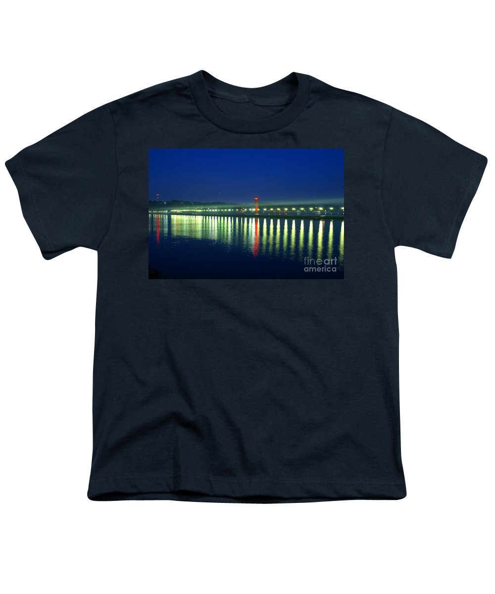 Pier Youth T-Shirt featuring the photograph Guiding Light by Robert Pearson