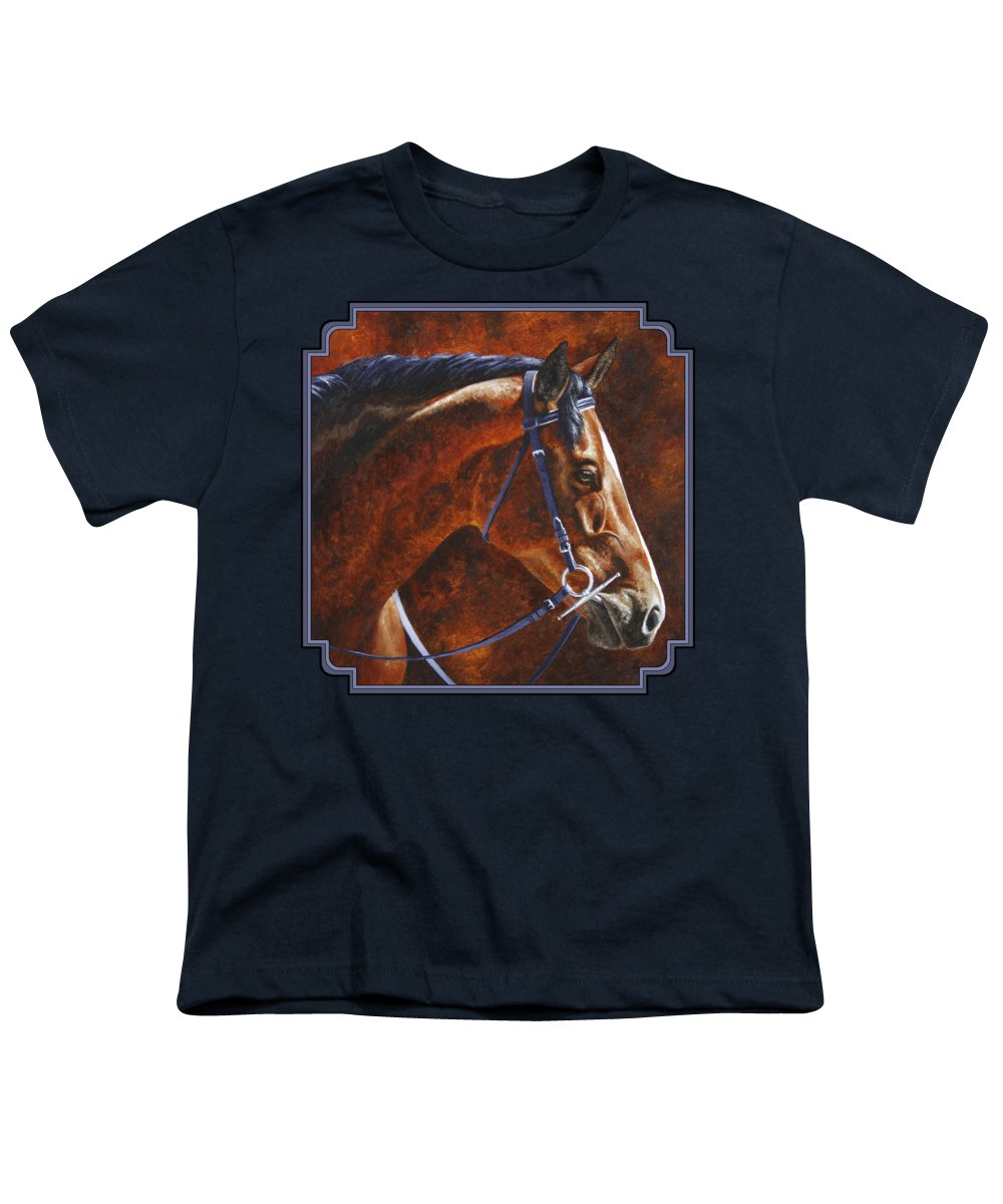Horse Youth T-Shirt featuring the painting Horse Painting - Ziggy by Crista Forest