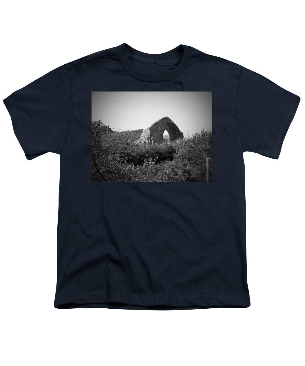 Irish Youth T-Shirt featuring the photograph Kilmanaheen Church Ruins Ennistymon Ireland by Teresa Mucha