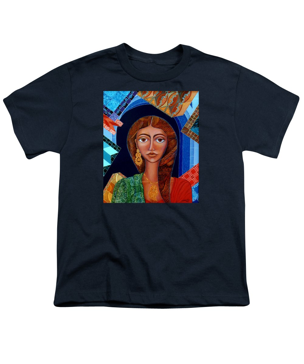 Painting Youth T-Shirt featuring the painting Labyrinth Of Memoirs by Madalena Lobao-Tello