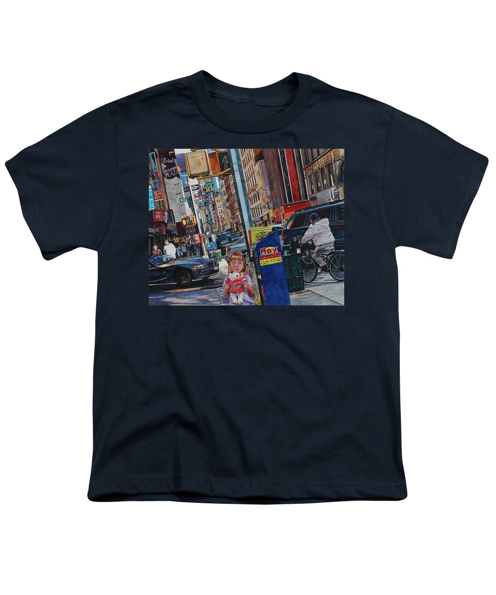 City Youth T-Shirt featuring the painting Lost by Valerie Patterson
