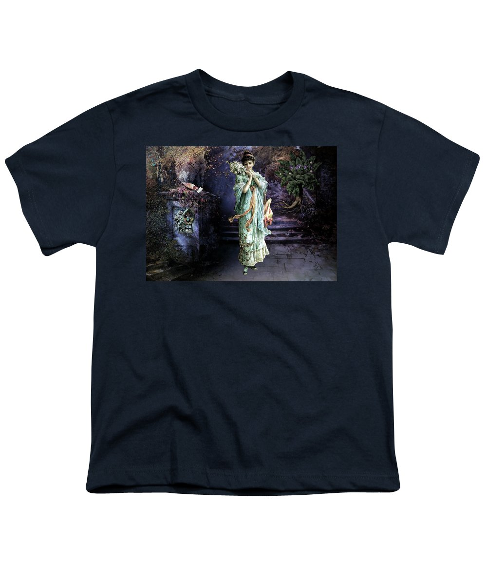 Women Youth T-Shirt featuring the painting Love Note by Laura Botsford