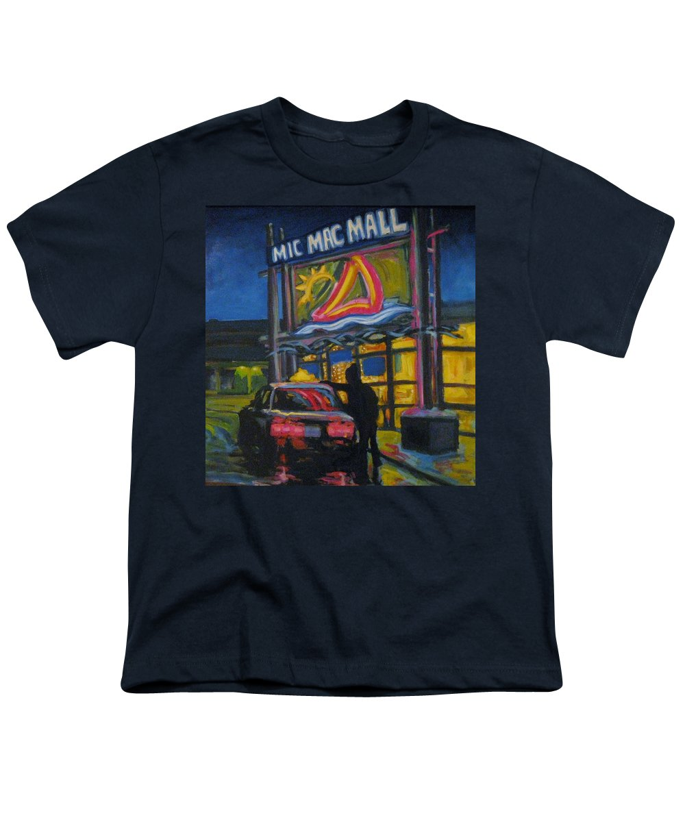 Retail Youth T-Shirt featuring the painting Mic Mac Mall Spectre Of The Next Great Depression by John Malone