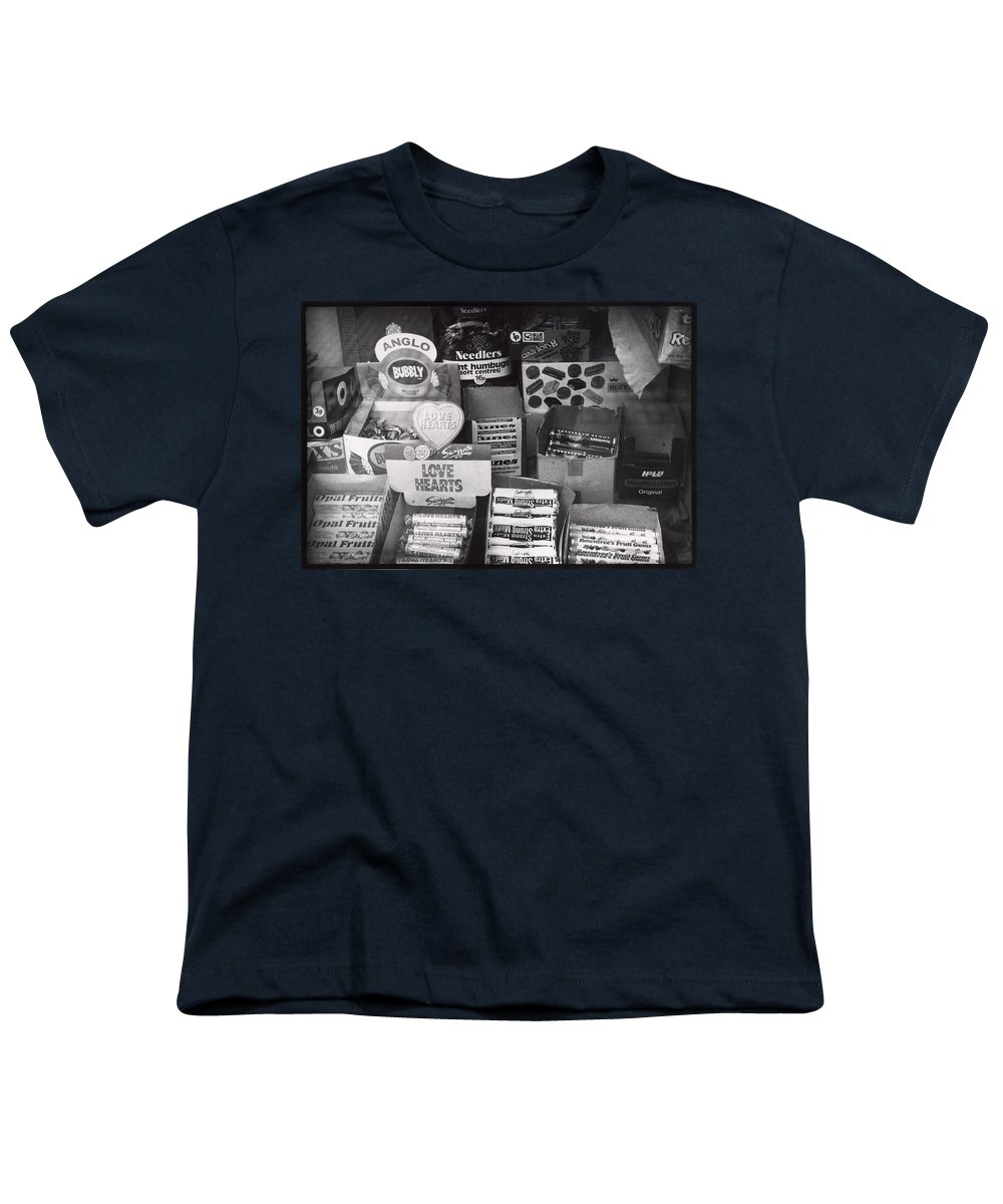 Candy Youth T-Shirt featuring the photograph Monochrome Candy by Charles Stuart