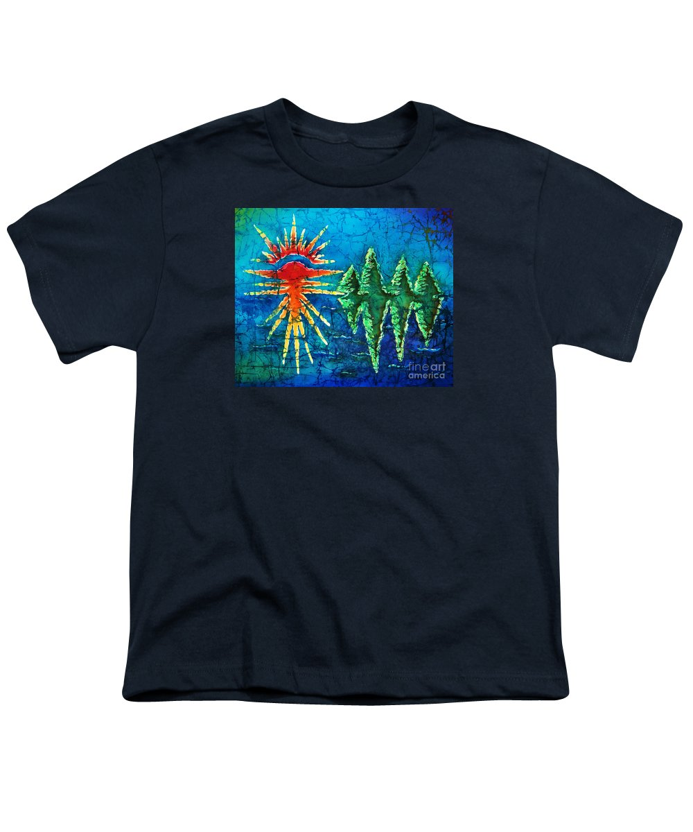 Trees Youth T-Shirt featuring the painting Nature by Sue Duda
