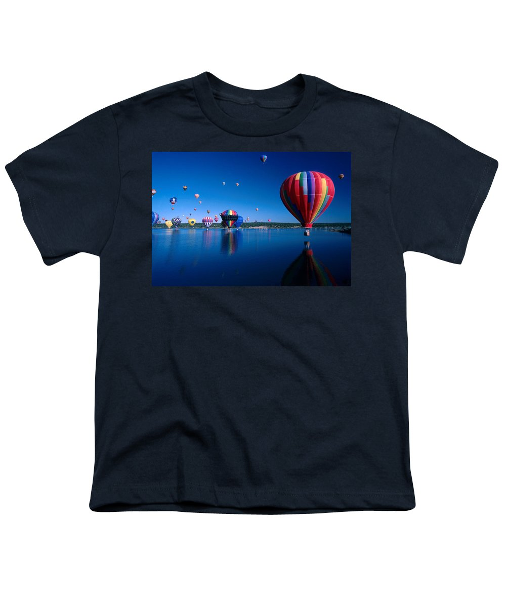 Hot Air Balloon Youth T-Shirt featuring the photograph New Mexico Hot Air Balloons by Jerry McElroy