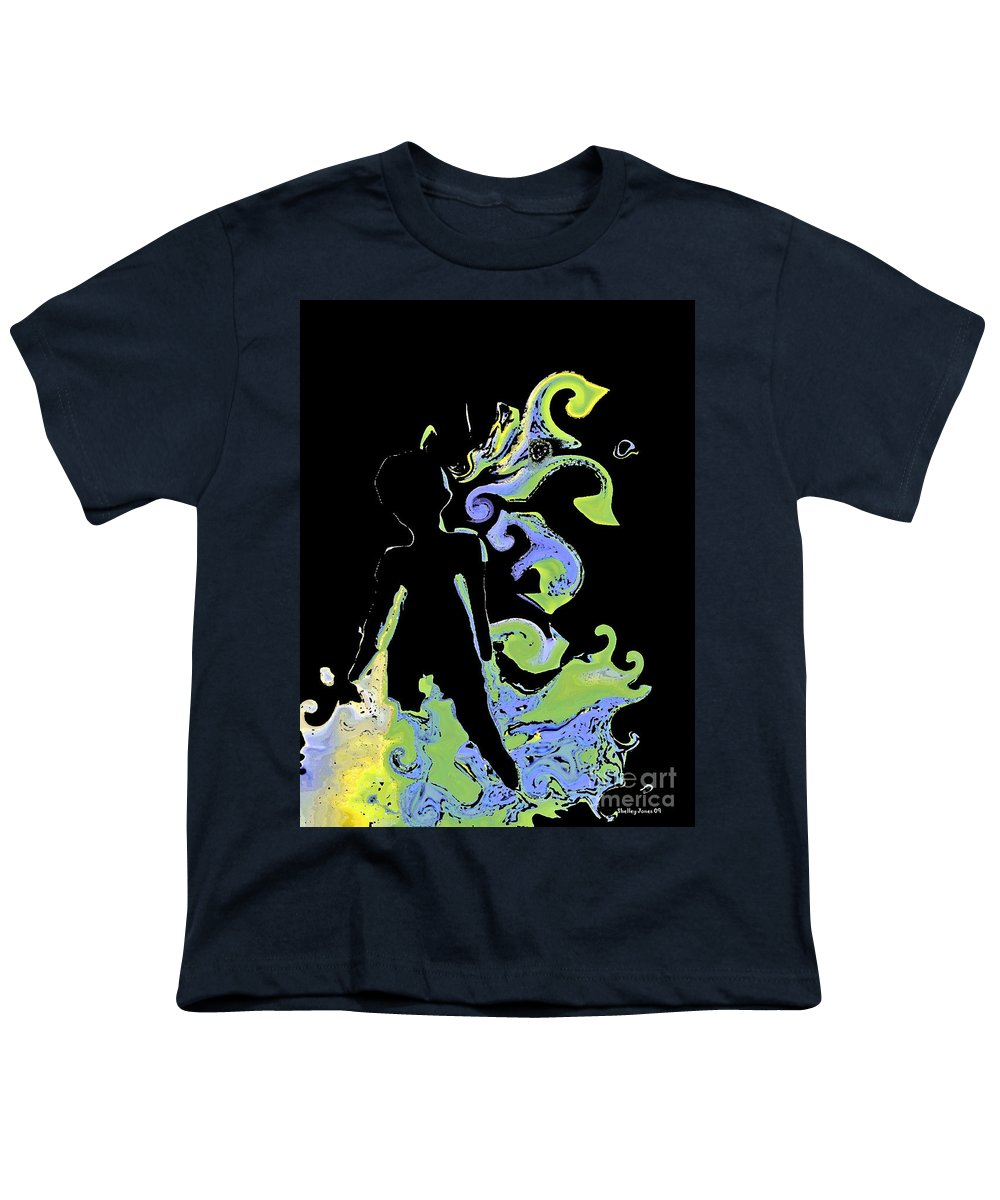 Ocean Youth T-Shirt featuring the digital art Ocean by Shelley Jones