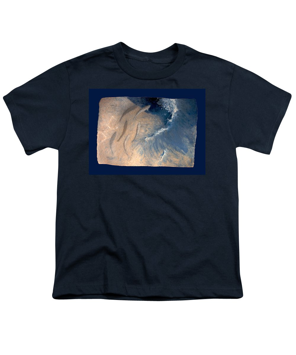 Seascape Youth T-Shirt featuring the painting Ocean by Steve Karol