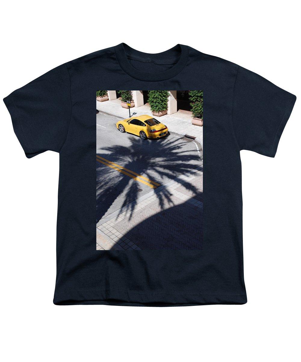 Porsche Youth T-Shirt featuring the photograph Palm Porsche by Rob Hans