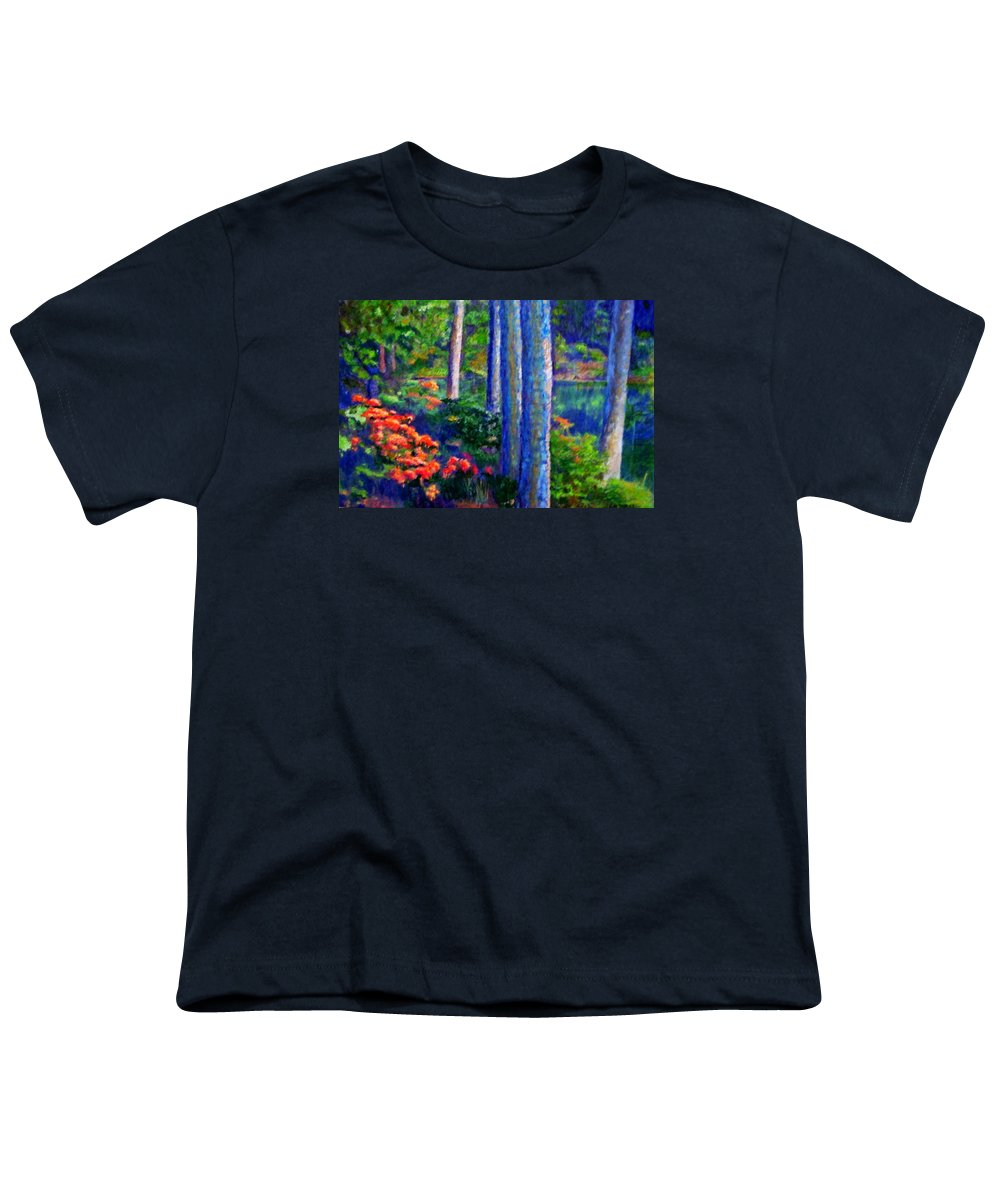 River Youth T-Shirt featuring the painting Rivers Edge by Michael Durst