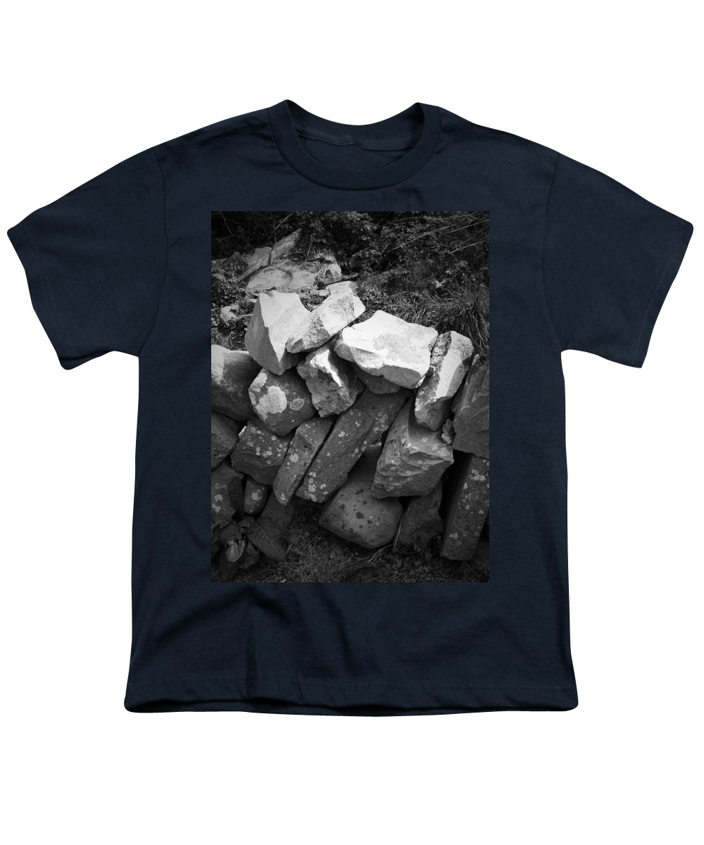 Irish Youth T-Shirt featuring the photograph Rock Wall Doolin Ireland by Teresa Mucha