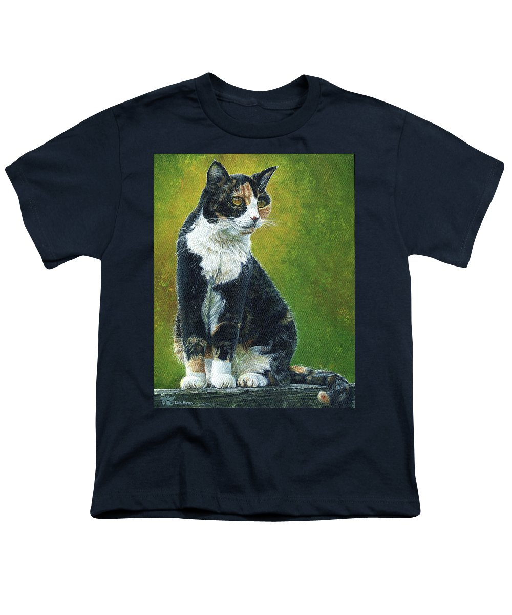 Sassy Youth T-Shirt featuring the painting Sassy by Cara Bevan