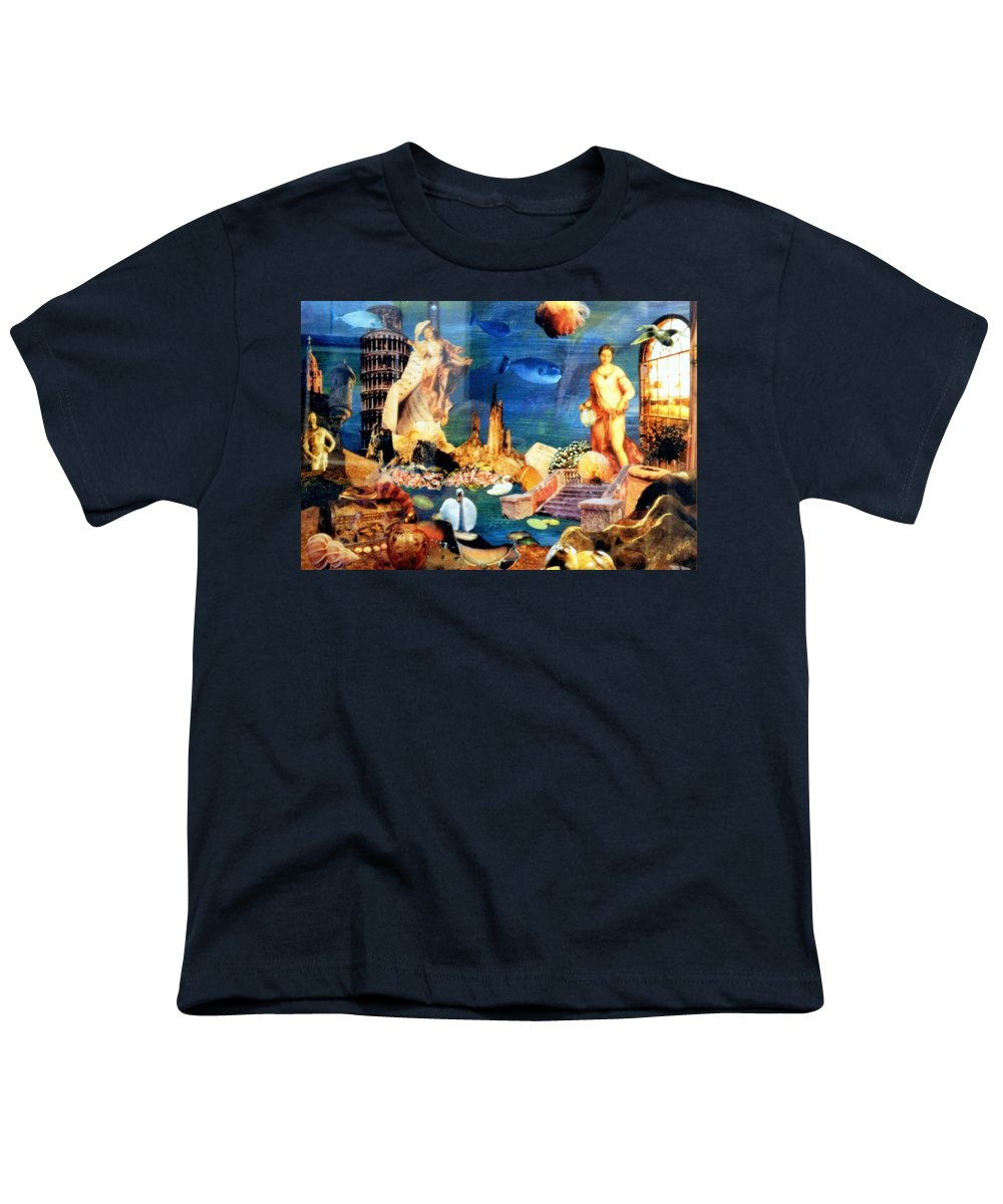Fantasy Youth T-Shirt featuring the painting Sea Garden by Gail Kirtz