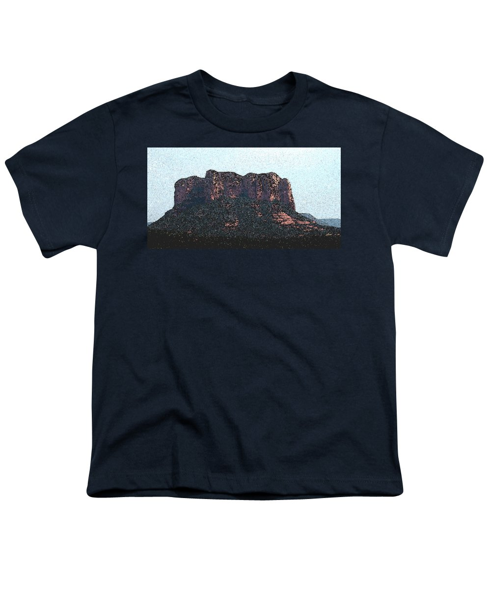 Altered Photography Youth T-Shirt featuring the photograph Sedona Rock Formation by Wayne Potrafka