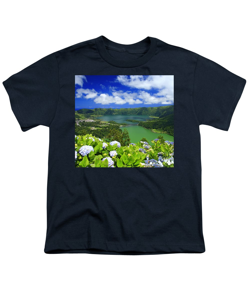 Sete Cidades Youth T-Shirt featuring the photograph Sete Cidades Crater by Gaspar Avila