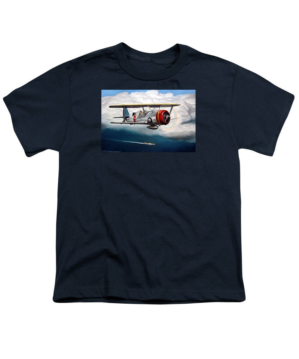 Aviation Youth T-Shirt featuring the painting Shakedown Cruise by Marc Stewart