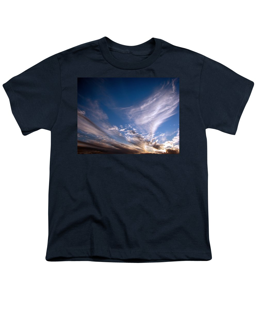 Skies Youth T-Shirt featuring the photograph Sky by Amanda Barcon