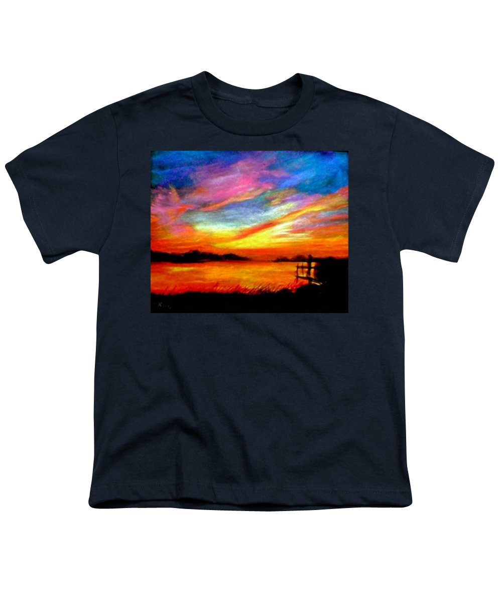 Sunset Youth T-Shirt featuring the painting Southern Sunset by Gail Kirtz