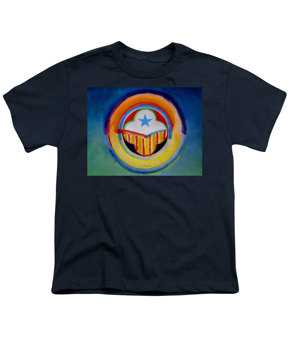 Button Youth T-Shirt featuring the painting Spanish American by Charles Stuart